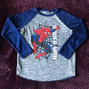 Spider Man Marvel Graphic Long Sleeve Tee